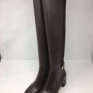 Michael Kors Hamilton Brown Riding Boots/Booties